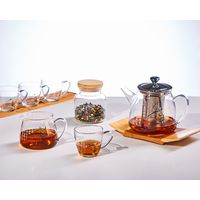 High borosilicate Glass Teapot with Infuser for Blooming and Loose Leaf Tea Pot