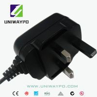 5W switching power adapter with UK plug ROHS