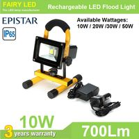 Portable & Rechargeable LED Flood Light 10W, 20W, 30W, 50W color red green black blue available