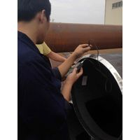 Steel pipe on stock in