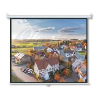 """Wall Mount Manual Pull Down Projector Screen 16:9 Aspect Ratio: Multiple Sizes Available (100"""") thumbnail image"""