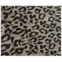 Newest 100% jute printed fabric with leopard