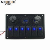Hot Sale led rocker switch panel For 12V 24V Car Boat Marine