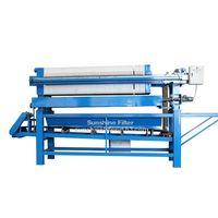 Filter press with conveyor belt device