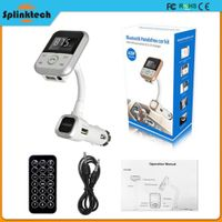 Bluetooth Wireless Handsfree Car FM Transmitter SD MP3 Player Remote USB Charger