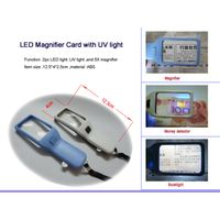 LED Magnifier Card with UV light thumbnail image