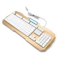 19 keys Anti-ghosting multimedia desktop LED backlightmembrane keyboard for gaming