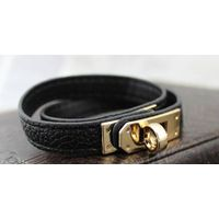 fashion genuine leather bracelet cuff leather bangle jewelry genuine leather cuff wrap thumbnail image