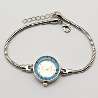 snake chain bracelet Japanese movement watch