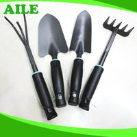 Small Black Metal Garden Tool Set