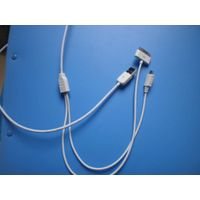 Hot sale! 2 in 1 usb data cable for Iphone 4/4s for Samsung, Htc ,Sony mobile phone