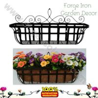 Iron window box planter