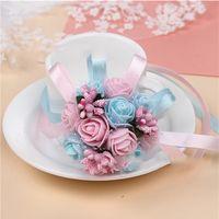 New Arrival Wedding Decor Corsage Foam Artificial Wrist Flower