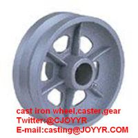 IRON caster or castor, wheel, spur gears , pulley, gearbox,sprocket