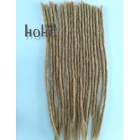 #27 blonde human hair soft dreadlocks braids
