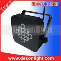 9x15w 5in1 LED Wireless DMX battery flat par LP-198 thumbnail image
