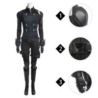 MANLUYUNXIAO Avengers: Infinity War Black Widow Natasha Romanoff Cosplay Costume Outfit thumbnail image