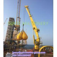 Offshore Hydraulic Pedestal Marine Crane Ship Deck Crane For Sale