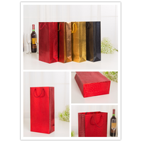 Wine Bottle Paper Gift Bags Alcohol Liquor Spirits Bag with Offset Printing