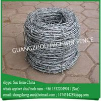 China manufacturer galvanized barbed wire roll price thumbnail image