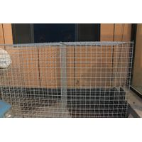 Welded gabion box / galvanized stone cage / gabion retaining wall fence