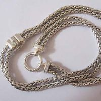 Sterling Silver Jewelry 925 Silver Whteat Chain Necklace (N-027) thumbnail image