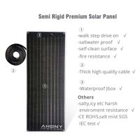 50w walk drive on semi rigid solar panel saltwater proof mono perc cell for boat marine yacht rv thumbnail image