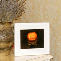 Halloween decorations Jack-o-lanterns wood farmed lighting decoration