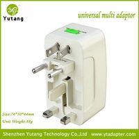 White certificate universal travel adapter kit compact universal travel adapter eu au us uk plug