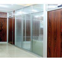 Hot Sale Office Sound Resistant Aluminum Frame Double Glass Partition