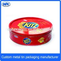 Round shape biscuit metal tin box