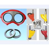 Concrete Pump Spare Parts Wear Spectacle Plate and Cutting Ring S Valve thumbnail image