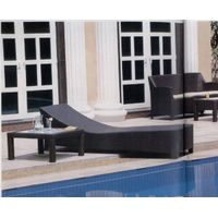 poly rattan sunbed , lounger chair,