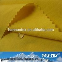 Solid Color Durable Windproof Waterproof Woven Twill Polyester Spandex Fabric