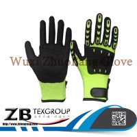 Hot 13G TPR on back 13G polyester/cotton liner nitrile coated mechanic gloves