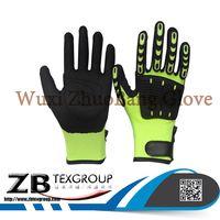 Hot 13G TPR on back 13G polyester/cotton liner nitrile coated mechanic gloves