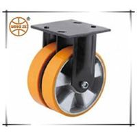 heavy duty PU twin wheel caster and wheel