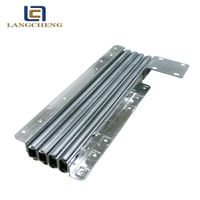 steel metal multi section telescoping table slide