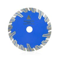 Hot pressed protective teeth diamond saw blade for cutting concrete
