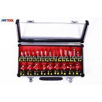 Red color aluminum box package 24 PCS router bit set