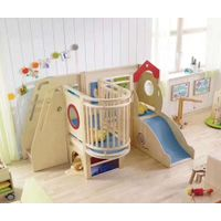 Hot Sale Childcare Wooden Kids Play Slide Toddler Mini Indoor Playground Slide for Classroom
