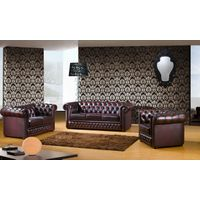 Antique Design Leather Sofa set for Living Room Furniture