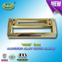 H046 Aluminium alloy coffin handle european style gold color
