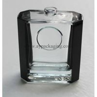 partial color coating perfume glass bottle for men