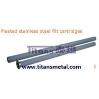 pleated stainless steel filter cartridges