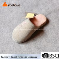 Handmade Alibaba China 2017 new arrival Leather material and outsole shoes and plush slipper for wom