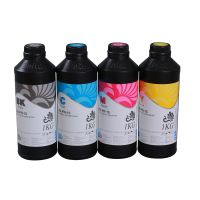 Fluorescent uv led ink for DX5 printheads