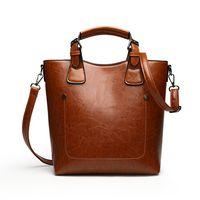 Vintage Design Lady Hand bag Women's Tote shoulder Bag PU Leather woman handbag