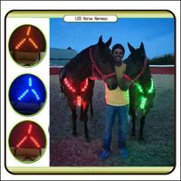 LED horse harness illuminated halter bridle light for horse