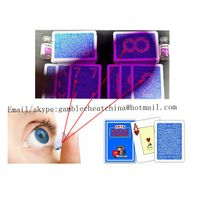Blue color Modiano Texas Hold'em plastic marked playing cards for gamble cheat/contact lenses/uv ink